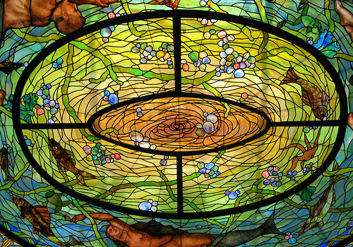 Stained Glass Skylight Above the DeSoto Fountain, Fordyce Bathhouse, Hot Springs National Park, Arkansas